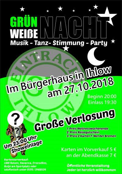 Grün-Weiße Nacht beim SV Eintracht Ihlow