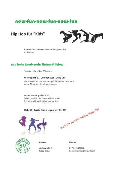 """Hip Hop für """"Kids"""""""