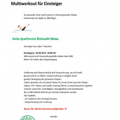 fit for fun 2.0 – Multiworkout für Einsteiger