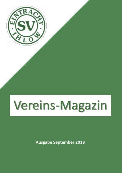 Vereins-Magazin 09/2018